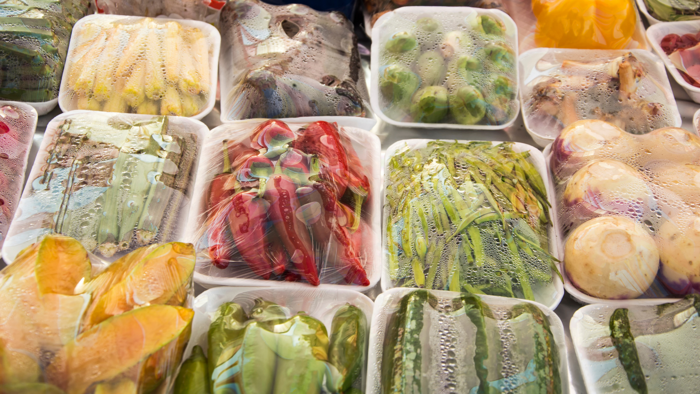 How do you pack vegetables for sale?